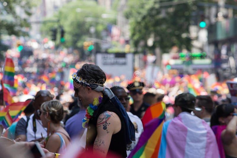 2016 de Stad LGBT Pride March van New York stock fotografie
