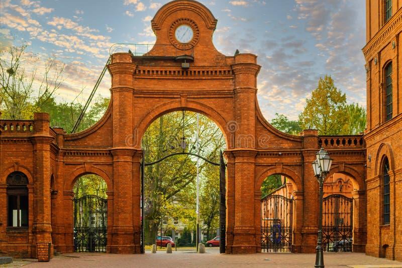 De stad Lodz in Midden-Polen royalty-vrije stock foto
