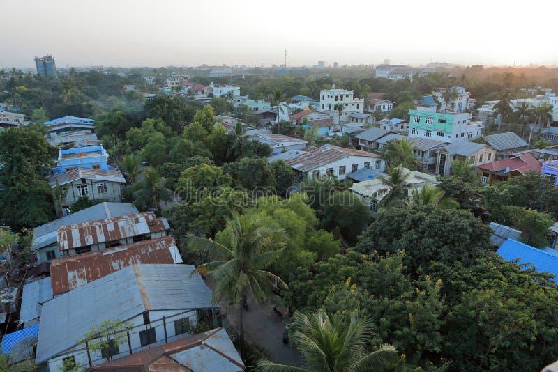De stad Mandalay in Myanmar royalty-vrije stock foto's