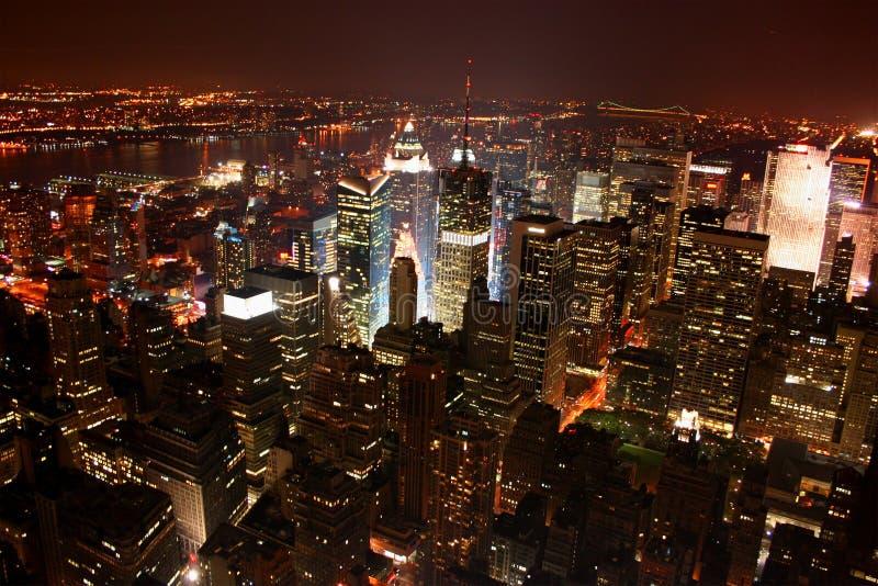 De Stad/Manhattan van New York bij n stock fotografie