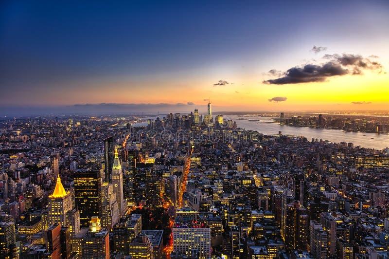 De Stad Manhattan w van New York de Vrijheidstoren royalty-vrije stock foto's