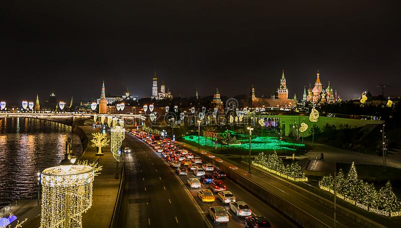 In de stad Moskou, Kremlin royalty-vrije stock fotografie