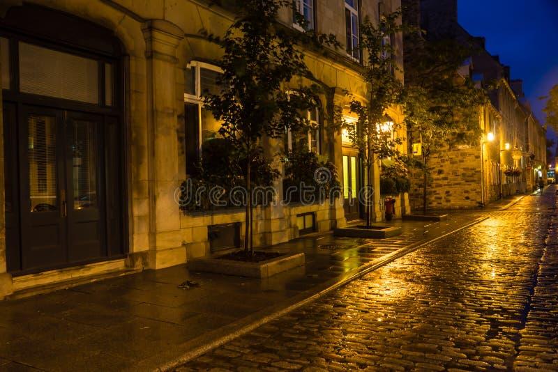 De Stad Nightscape van Quebec royalty-vrije stock afbeeldingen