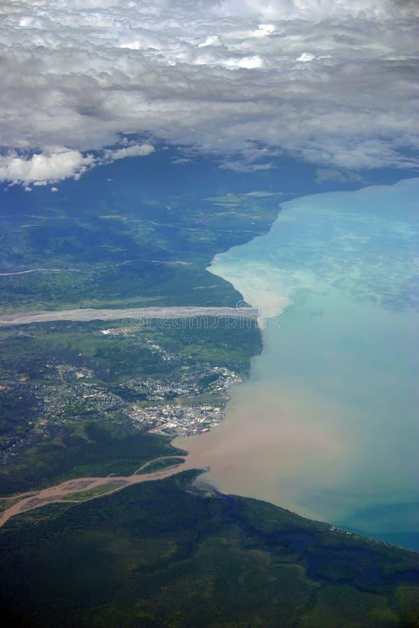 De stad Papoea-Nieuw-Guinea van Lae stock afbeelding