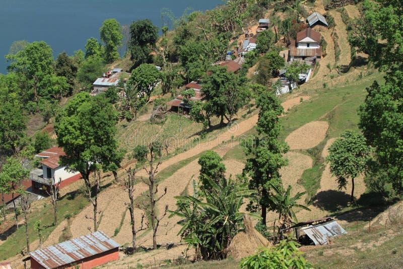 De Stad Pokhara royalty-vrije stock afbeeldingen