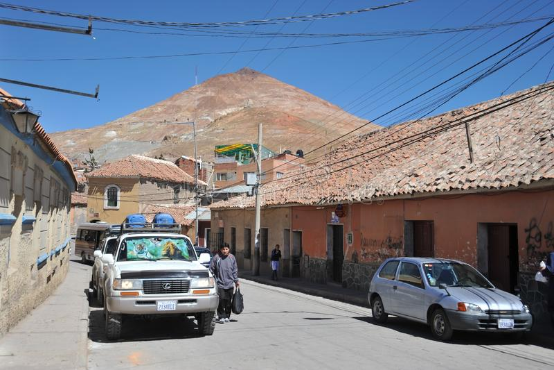 De stad Potosi stock foto's