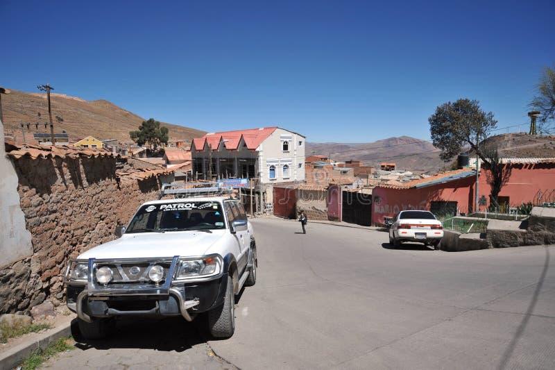 De stad Potosi royalty-vrije stock foto
