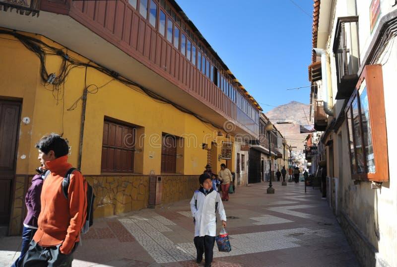 De stad Potosi royalty-vrije stock afbeeldingen