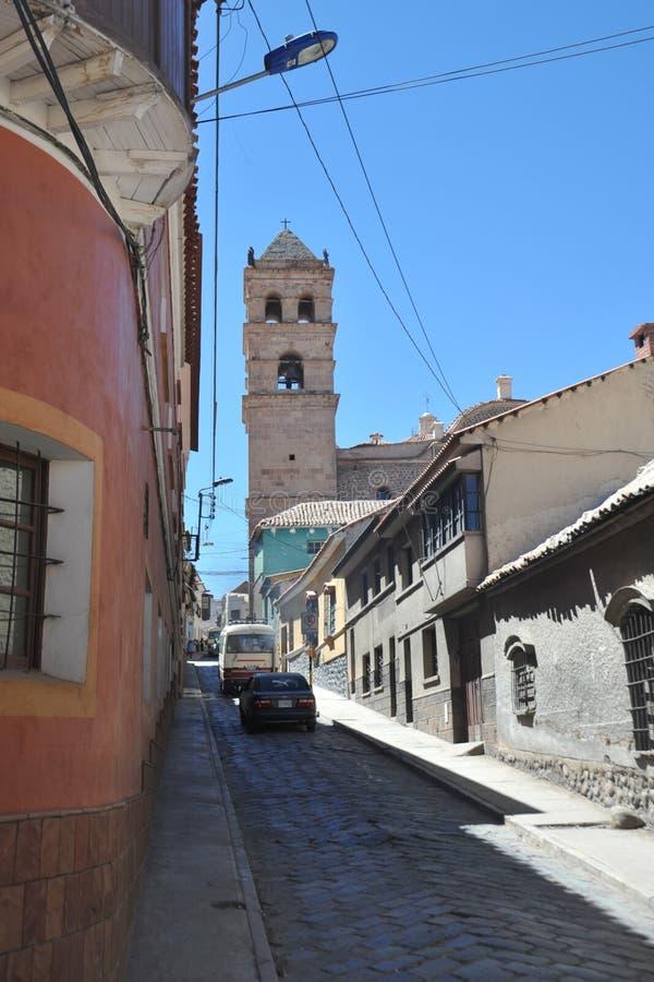 De stad Potosi stock afbeeldingen