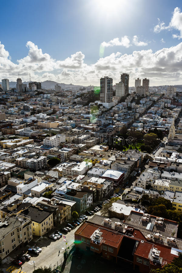 De Stad Scape van San Francisco royalty-vrije stock foto's