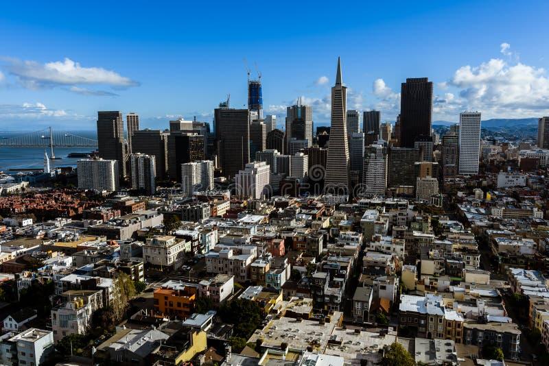 De Stad Scape van San Francisco royalty-vrije stock afbeelding