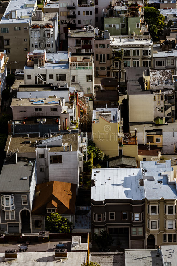 De Stad Scape van San Francisco royalty-vrije stock fotografie