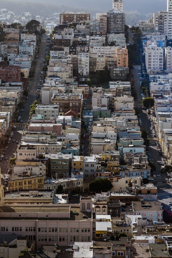 De Stad Scape van San Francisco stock afbeelding