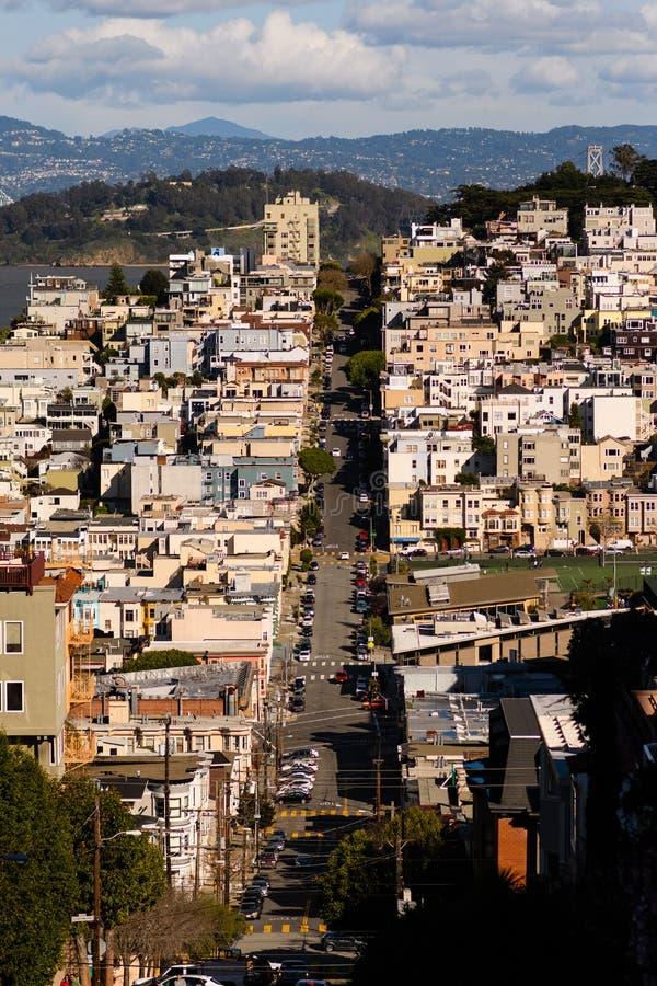 De Stad Scape van San Francisco stock afbeeldingen