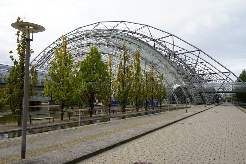 De Stad Stadt Leipzig Duitsland Deutschland van Handelsbeursmesse stock foto's