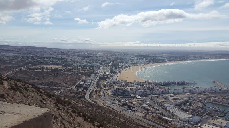 De stad van Agadir stock afbeelding
