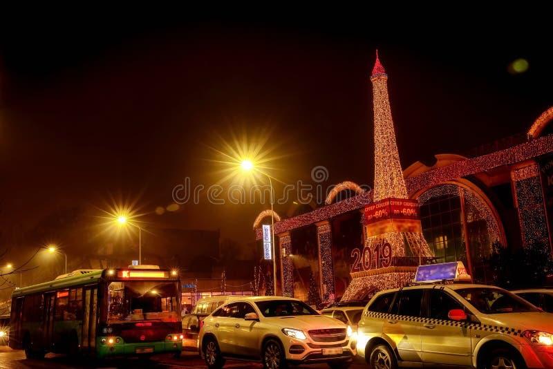 De stad van Alma Ata