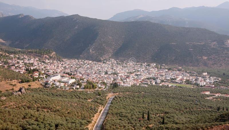 De Stad van Amfissa stock afbeelding