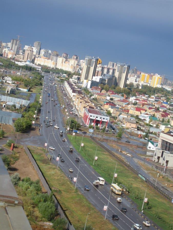 De stad van Astana. Panorama royalty-vrije stock foto's