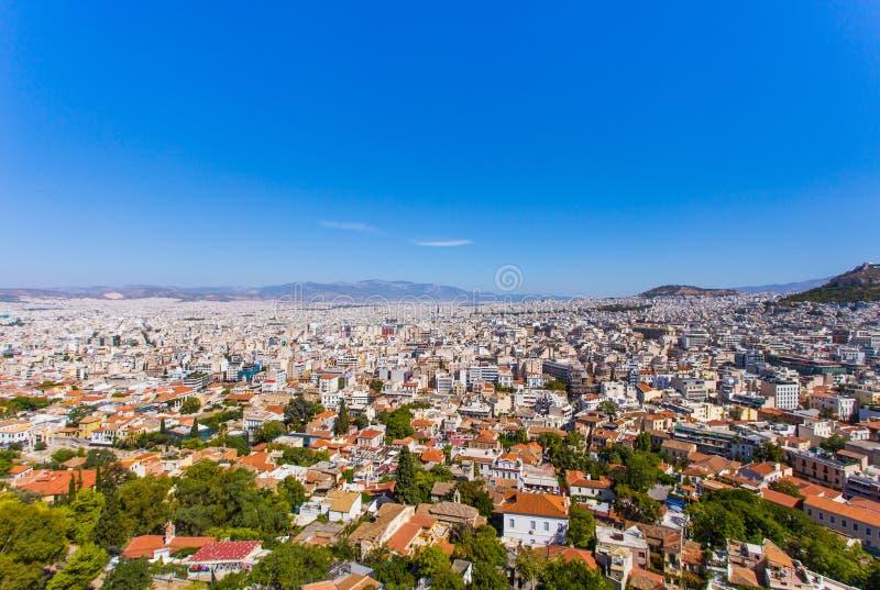 De stad van Athene stock afbeeldingen