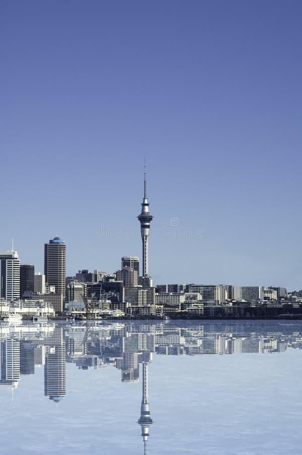 De Stad van Auckland royalty-vrije illustratie