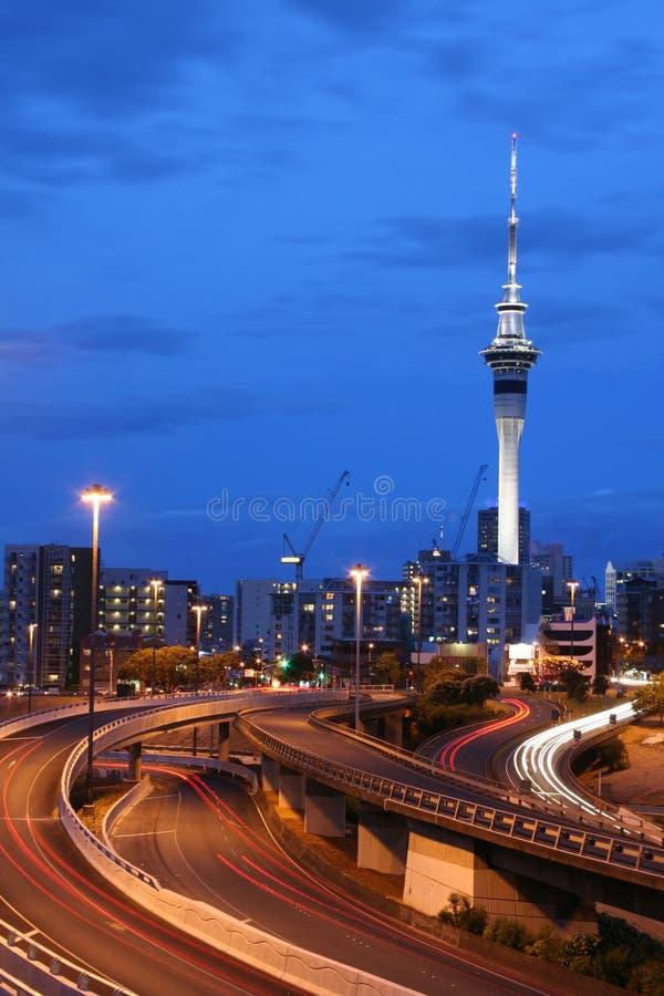 De Stad van Auckland, Nieuw Zeeland stock afbeeldingen