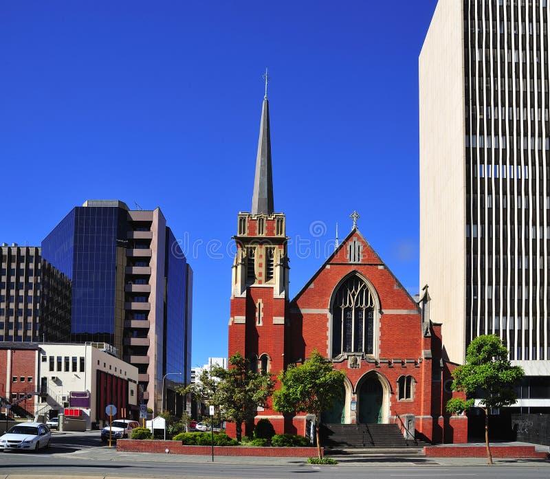 De Stad van Australië van de kerk van Perth St. Andrew royalty-vrije stock foto's