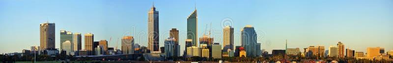 De Stad van Australië van het panorama van Perth stock fotografie