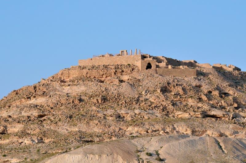 De stad van Avdatnabataean in de Negev-Woestijn, Israe royalty-vrije stock fotografie