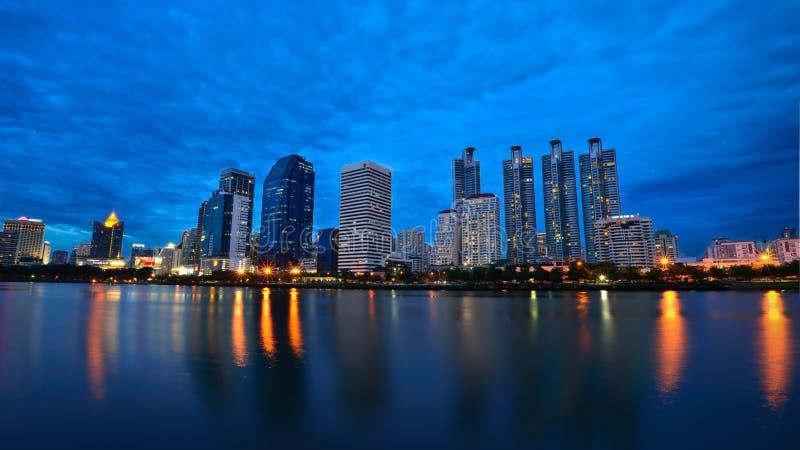 De stad van Bangkok van licht royalty-vrije stock afbeeldingen