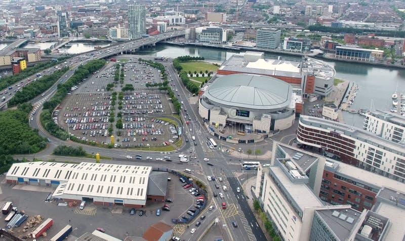 De Stad van Belfast, Co Antrim Noord-Ierland stock afbeelding