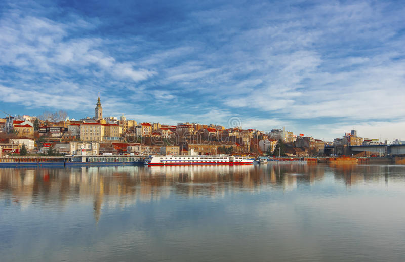 De stad van Belgrado royalty-vrije stock foto's