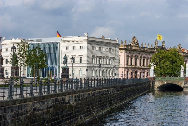 De stad van Berlijn - de Bouw van Bertelsmann stock foto