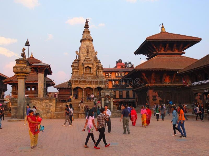 De stad van Bhaktapur, Nepal royalty-vrije stock foto