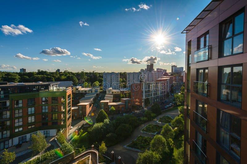 De stad van Birmingham, het UK stock fotografie