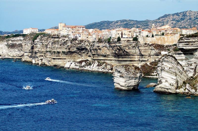 De stad van Bonifacio, Corsica royalty-vrije stock fotografie