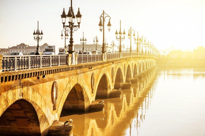 De stad van Bordeaux in Frankrijk stock foto