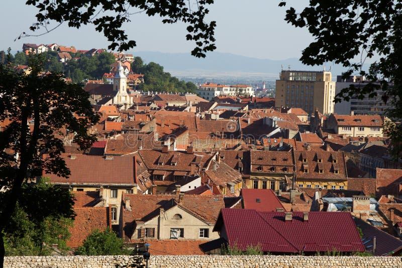 De stad van Brasov royalty-vrije stock afbeelding
