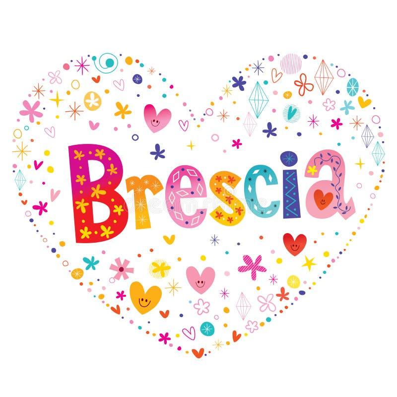 De stad van Brescia in Italië royalty-vrije illustratie