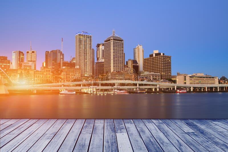Download De Stad van Brisbane stock foto. Afbeelding bestaande uit zwart - 29512910