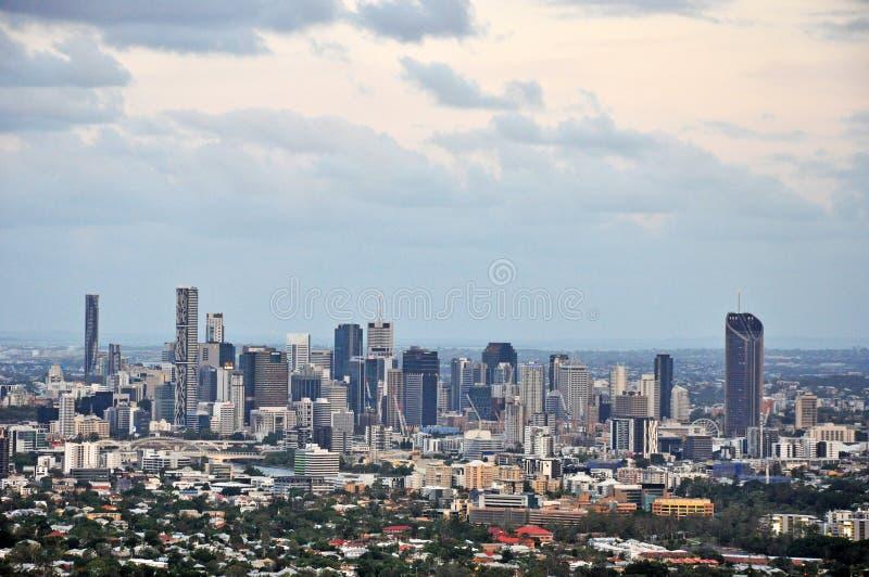 De Stad van Brisbane, Australië, Satellietbeeld stock foto's