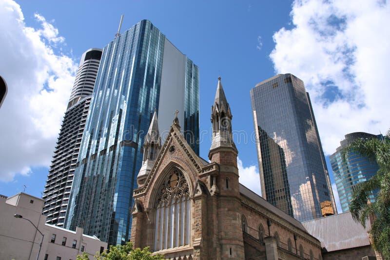 De Stad van Brisbane, Australi? royalty-vrije stock afbeeldingen