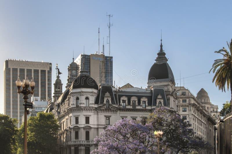 De Stad van Buenos aires de mening van het de bouwdetail royalty-vrije stock fotografie
