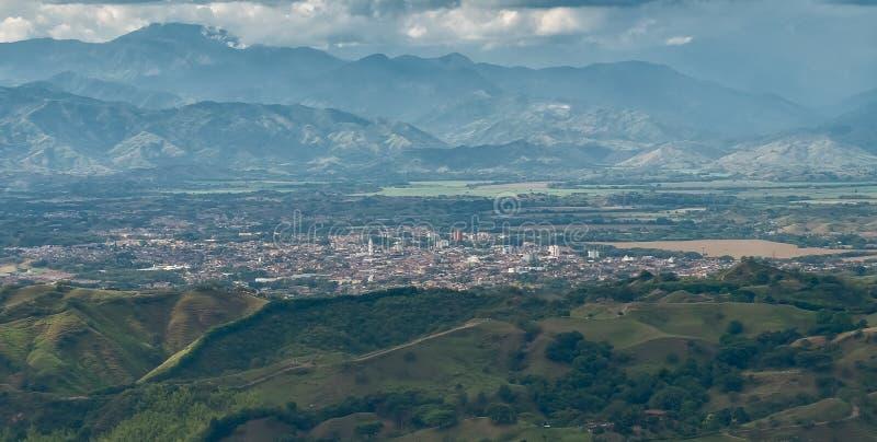 De stad van Cartago, Valle del Cauca, Colombia stock foto's