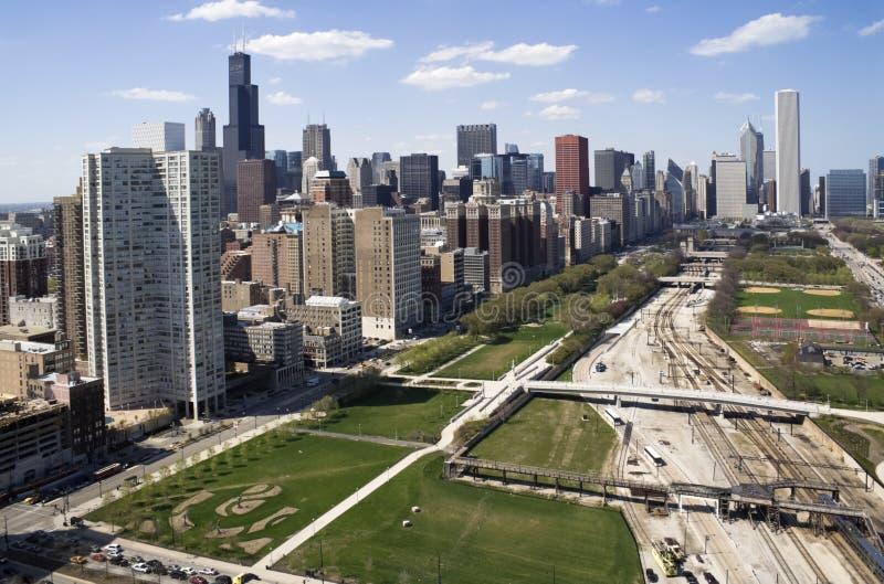 De stad in van Chicago royalty-vrije stock foto