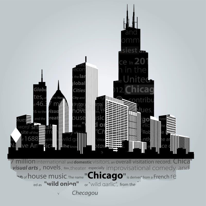 De stad van Chicago stock illustratie
