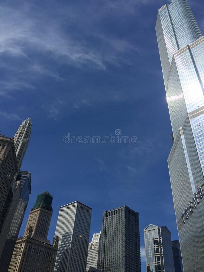 De stad van Chicago stock foto's