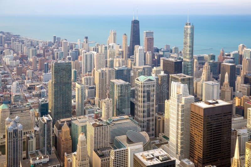 De stad van Chicago van de binnenstad royalty-vrije stock afbeeldingen