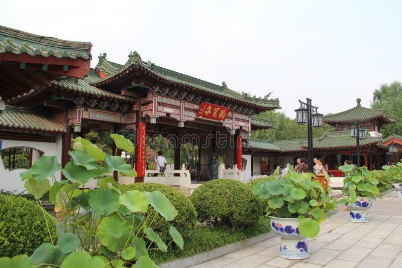 De Stad van China ` s Jinan, Shandong-provincie, het Park van de baotulente stock fotografie