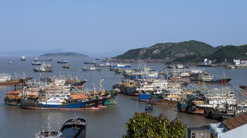 De stad van China van Ningbo stock afbeeldingen